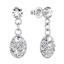 Stříbrné náušnice s krystaly Crystals from Swarovski®