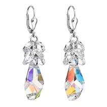 Stříbrné náušnice s krystaly Crystals from Swarovski® AB