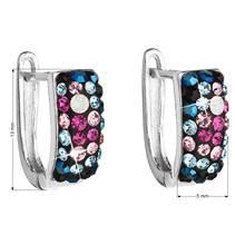 Stříbrné náušnice s krystaly Crystals from Swarovski®, Galaxy