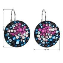Stříbrné náušnice s krystaly Crystals from Swarovski® Galaxy