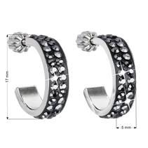 Stříbrné náušnice s krystaly Crystals from Swarovski®, kruhy 17 mm