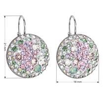 Stříbrné náušnice s krystaly Crystals from Swarovski® Sakura