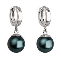 Stříbrné náušnice se syntetickými perlami
