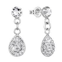 Stříbrné náušnice slzičky s krystaly Crystals from Swarovski®
