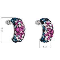 Stříbrné šroubovací náušnice s krystaly Crystals from Swarovski®, Galaxy