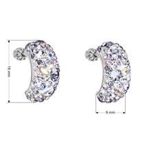 Stříbrné šroubovací náušnice s krystaly Crystals from Swarovski®, Violet