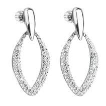 Stříbrné visací náušnice s Crystals from Swarovski®