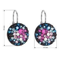 Stříbrné závěsné náušnice s krystaly Crystals from Swarovski®, Galaxy