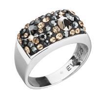 Stříbrný hranatý prsten Crystals from Swarovski®, Colorado