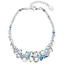 Stříbrný náramek s krystaly Crystals from Swarovski® AB
