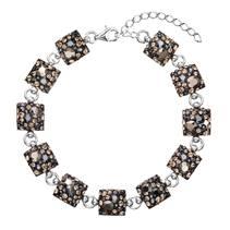 Stříbrný náramek s krystaly Crystals from Swarovski®, Colorado