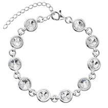 Stříbrný náramek s krystaly Crystals from Swarovski®, Crystal