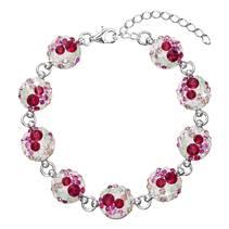 Stříbrný náramek s krystaly Crystals from Swarovski®, Sweet Love