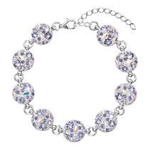 Stříbrný náramek s krystaly Crystals from Swarovski®, Violet