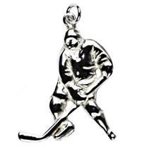 Stříbrný přívěšek - hokejista