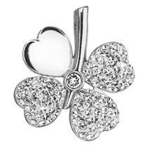 Stříbrný přívěšek čtyřlístek s krystaly Crystals from Swarovski® Crystal