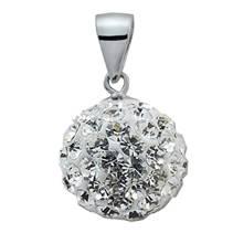 Stříbrný přívěšek koule 10 mm s krystaly Crystals from Swarovski®, Crystal