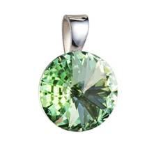Stříbrný přívěšek rivoli Crystals from Swarovski® Crysolite