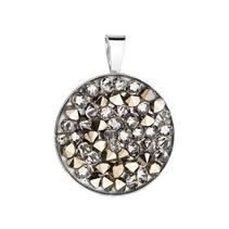 Stříbrný přívěšek ROCKS Crystals from Swarovski® Golden Chocolate