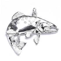 Stříbrný přívěšek ryba pstruh obecný