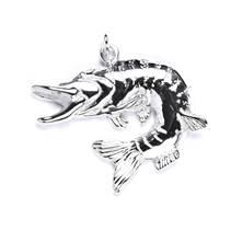 Stříbrný přívěšek ryby štika