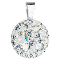 Stříbrný přívěšek s kameny Crystals from Swarovski® Light Sapphire
