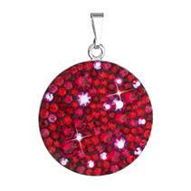 Stříbrný přívěšek s krystaly Crystals from Swarovski® CHERRY