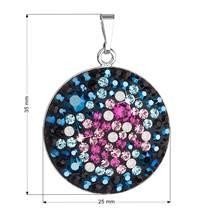 Stříbrný přívěšek s krystaly Crystals from Swarovski® Galaxy