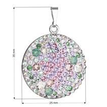 Stříbrný přívěšek s krystaly Crystals from Swarovski® Sakura