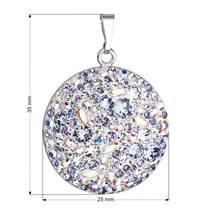 Stříbrný přívěšek s krystaly Crystals from Swarovski® Violet