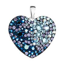 Stříbrný přívěsek s krystaly Swarovski modré srdce  blue style