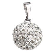 Stříbrný přívěšek s kulička Crystals from Swarovski® Crystal
