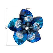 Stříbrný přívěšek s kytička s kamínky Crystals from Swarovski® Bermuda Blue
