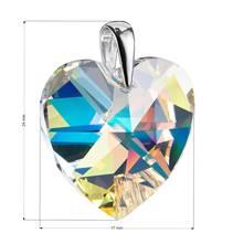 Stříbrný přívěšek srdce Crystals from Swarovski® AB