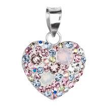 Stříbrný přívěšek srdce s krystaly Crystals from Swarovski® Magic Rose