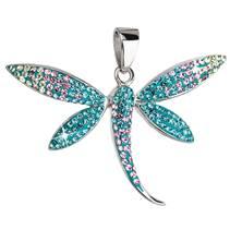 Stříbrný přívěšek vážka krystaly Crystals from Swarovski®