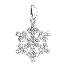 Stříbrný přívěšek vločka s kameny Crystals from Swarovski®