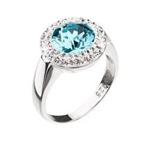 Stříbrný prsten Crystals from Swarovski®, Aqua