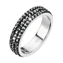 Stříbrný prsten Crystals from Swarovski®, Hematite