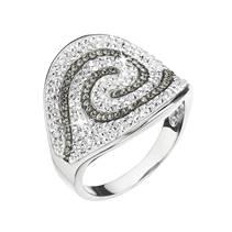 Stříbrný prsten Crystals from Swarovski® vel. 56