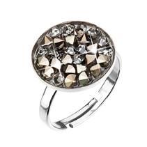 Stříbrný prsten ROCKS Crystals from Swarovski® Golden Chokolate