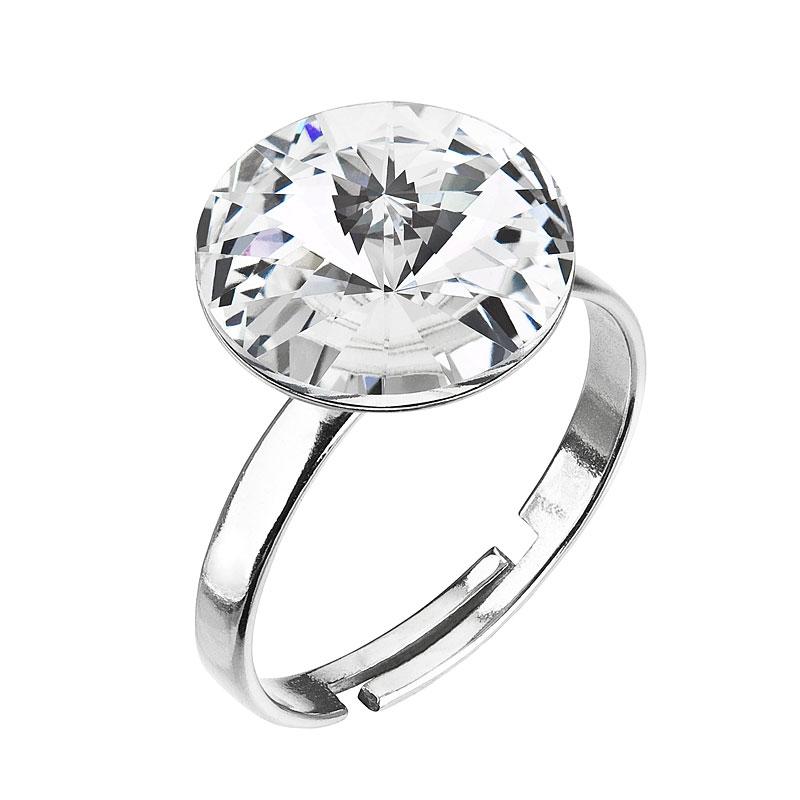 Stříbrný prsten s kamenem Crystals from Swarovski® Crystal  c97c1684a3e