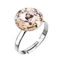 Stříbrný prsten s kamenem Crystals from Swarovski® Silk