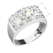 Stříbrný prsten s kameny Crystals from Swarovski® Light Sapphire