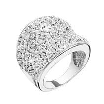 Stříbrný prsten s kamínky Crystals from Swarovski®, Crystal