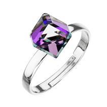 Stříbrný prsten s kostkou Crystals from Swarovski® Heliotrope