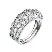 Stříbrný prsten s krystaly Crystals from Swarovski®, Crystal