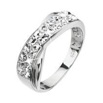 Stříbrný prsten s krystaly Crystals from Swarovski® Crystal