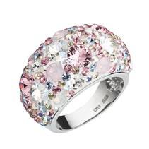 Stříbrný prsten s krystaly Crystals from Swarovski®, Magic Rose