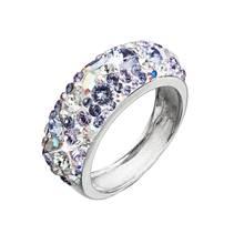 Stříbrný prsten s krystaly Crystals from Swarovski®, Violet